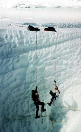 Crevasse training
